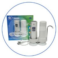 2 stage double countertop water filter