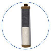 Iron removal cartridge filled with NSF approved media