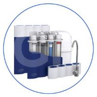 4-stage RO water filtration system, equipped with TFC-70F-TW RO membrane and the latest TWIST type filter cartridges