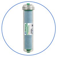 bacteriostatic in line sediment filter cartridge in clear housing