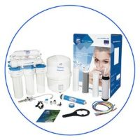 7 stage reverse osmosis systems with mineralizing and ionizing cartridges
