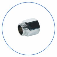 FT02 Brass Chrome Plated Coupling