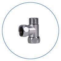 FT04 T-style Brass Fitting Chrome Plated